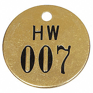Numbered Tag, Black/Gold