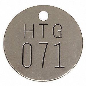 Numbered Tag, Silver