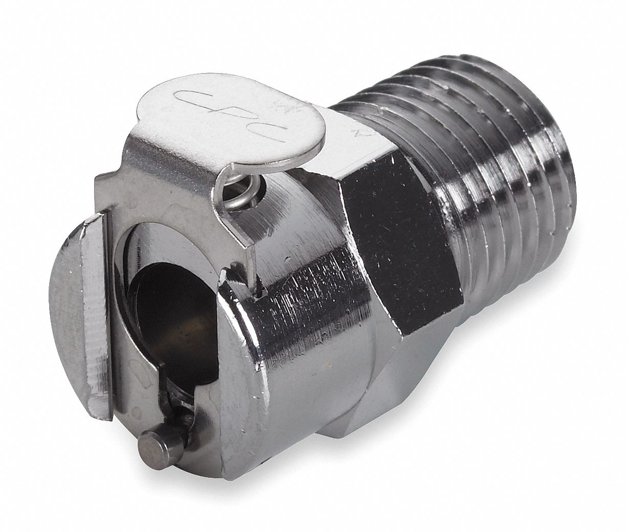 LC Series Shut-Off Inline Coupler,  MNPT,  For Use With LC and PLC Inserts