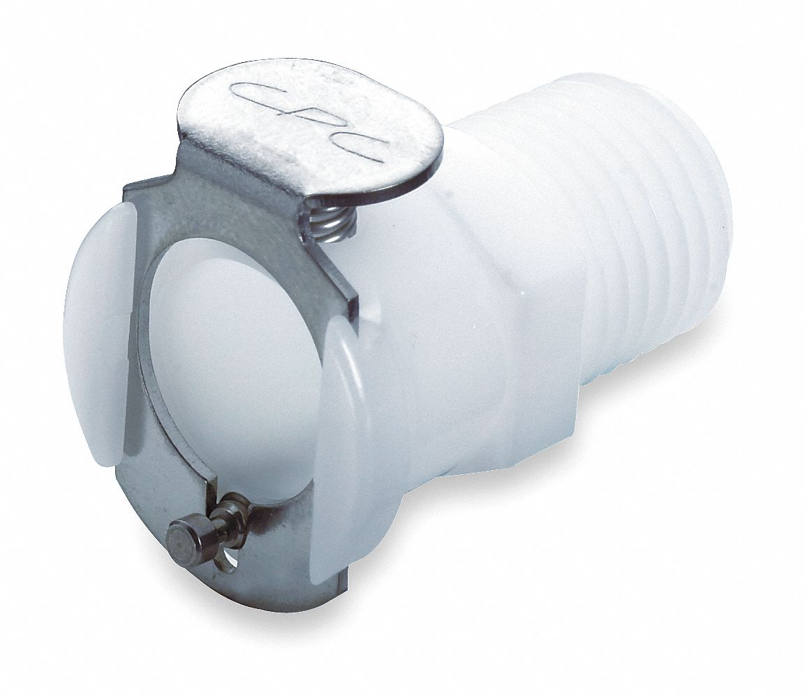 PLC Series Shut-Off Inline Coupler,  MNPT,  For Use With LC and PLC Inserts