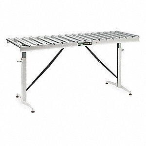 ConveyorTable,17 Rollers,22In.Btwn Frame