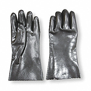 "Chemical Resistant Gloves, Size XL, 12""L, Black ,  1 PR"