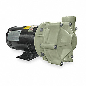 Polypropylene 1 HP Centrifugal Pump, 3 Phase, 208-230/460 Voltage