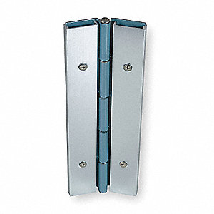 "Load-Rated Piano Hinge With Holes, Stainless Steel, 1-11/16"" Width, 7 ft. Length"