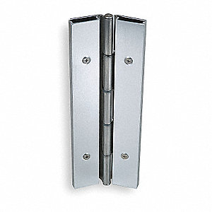 "Load-Rated Piano Hinge With Holes, 1012 Cold Rolled Steel, 2-1/4"" Width, 7 ft. Length"