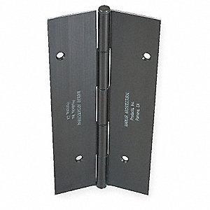 "Load-Rated Piano Hinge With Holes, Aluminum, 2-1/4"" Width, 8 ft. Length"