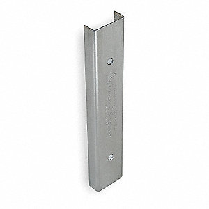"Latching Door Edge Guard, Stainless Steel, Number of Sides 3, Height 84"", Width 1-3/4"""