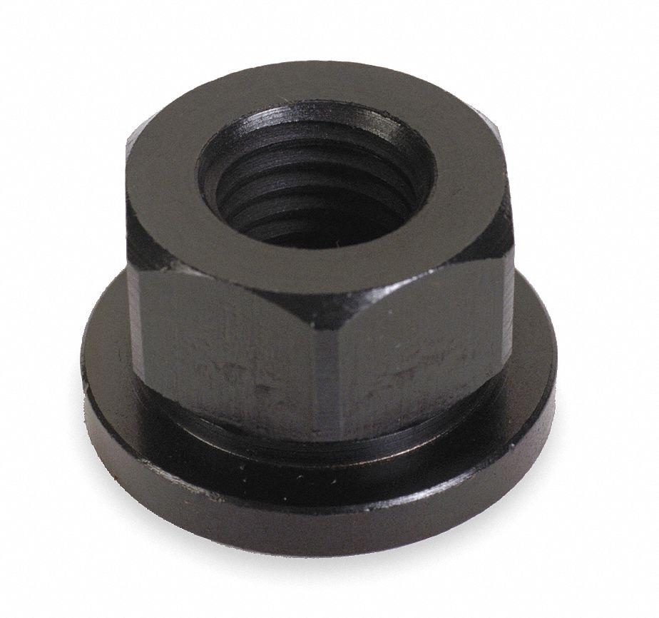 3//8-16 Hex Flange Nut Grade 8 Plain black finish 3//8x16 Nuts 3//8 x 16 100