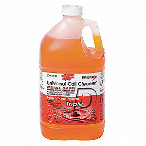 Liquid Condenser Cleaner, 1 gal., Amber Color, 1 EA