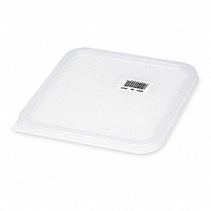 "11-5/8"" x 10-1/2"" Polyethylene Space Saving Container Lid, White"