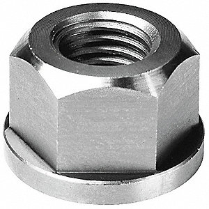 "1/2""-13 Flange Nut Finish, Stainless Steel 18-8, EA1"