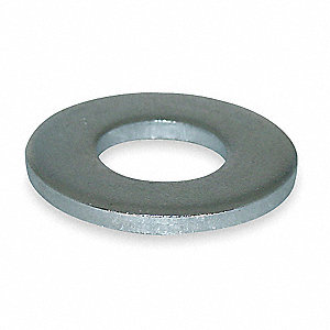 "3/4""x1-1/2"" O.D., Flat Washer, Steel, Low Carbon, Zinc Plated, PK20"