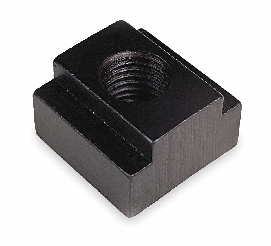"T-Slot Nut,  Thread Size 5/8""-11,  High Speed Steel,  Black Oxide,  Overall Length 1-1/4 in"