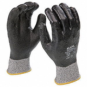 Coated Gloves,Gray/Black,L,PR