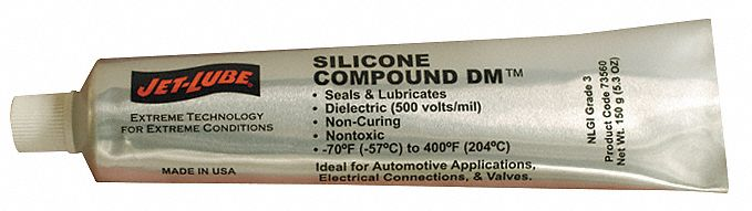 Dielectric Grease, 5.3 oz, Tube, Translucent