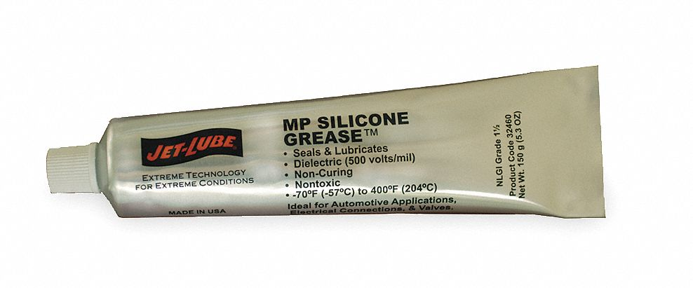 Clear,  Silicone,  Di-Electric Grease,  5.3 oz,  1.5 NLGI Grade