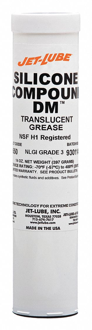 Clear,  Silicone,  Di-Electric Grease,  14 oz,  3 NLGI Grade