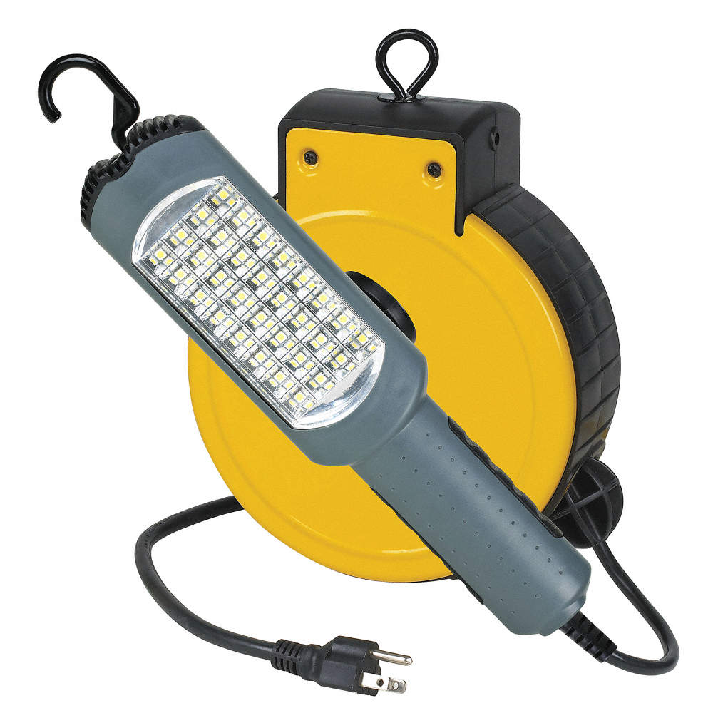 Extension Cord Reel With Hand Lamp Led Lamp With Receptacle 5 0 Lamp Watts 120vac