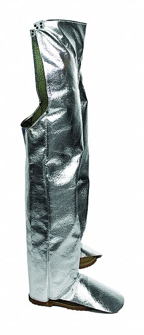 Chaps,  Universal,  Aluminized OPF/Para-Aramid,  19 oz Fabric Weight,  40 in Length