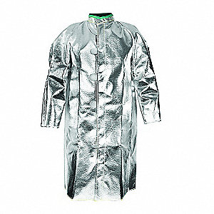 Aluminized Jacket,2XL,Carbon Kevlar(R)