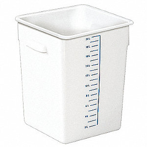 "11-3/8"" x 10-1/2"" x 12"" Polyethylene Space Saving Storage Container, White"