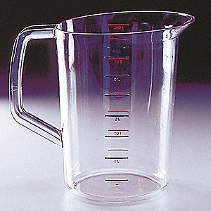 4 qt. BPA Free Polycarbonate Measuring Cup, Clear