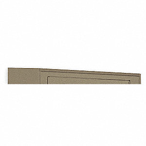 Slope Top Kit,3 Frame Wide,W36,D12,Beige