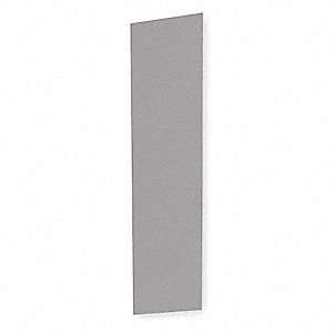 End Panel For Slope Top Locker,D 12,Gray