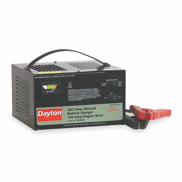 DAYTON Battery Charger Starter 2Z556 2Z556 Grainger