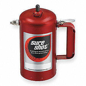 32 oz. Red Enameled Steel Rechargeable Sprayer