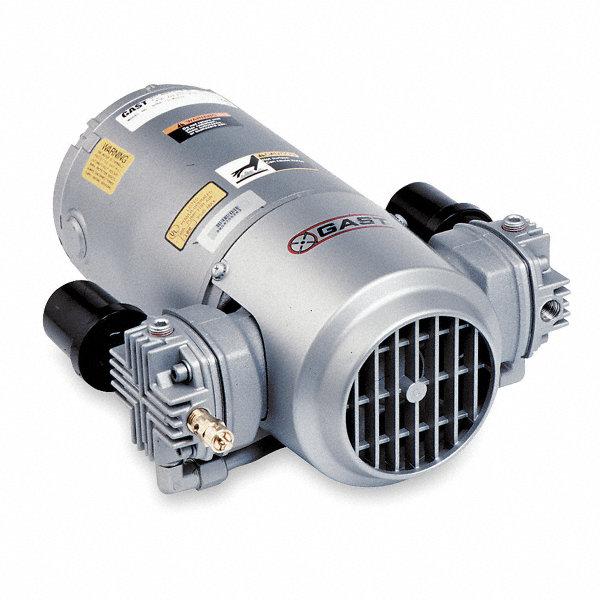 Gast 1 3 Hp Piston Air Compressor 115vac 100 100 Max