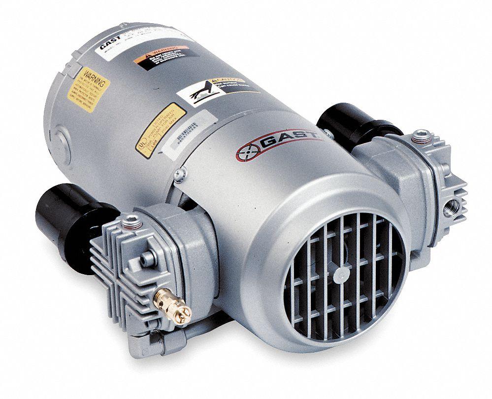 Gast 1 3 Hp Hp Piston Air Compressor 115v Ac 100 100 Max Psi Cont Int 11x371 3hbb 32 M300ax Grainger