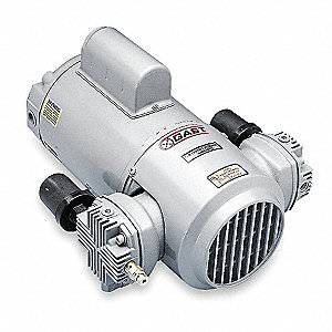 1/2 HP Piston Air Compressor, 115/230VAC, 100/100 Max. PSI Cont./Int.