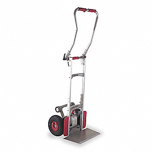 "Stair Climbing Hand Truck, Continuous Frame Loop, 240 lb., Overall Width 19"", Overall Height 60"""
