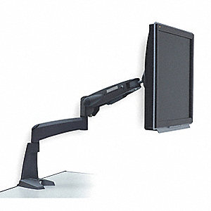 Flat Panel Mount,Desktop,Alum,Black