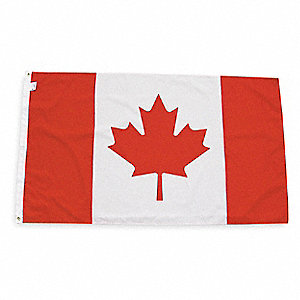 Canada Country Flag, 3 ft.H x 5 ft.W, Outdoor