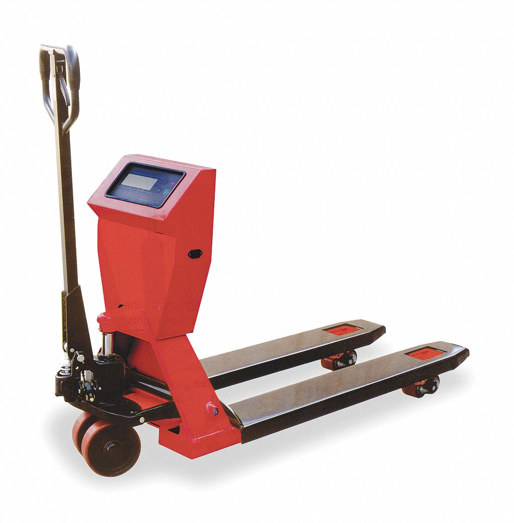 Dayton Standard Scale Manual Pallet Jack 4400 Lb Load Capacity Hydraulic Diagram Parts Fork Size 6 3 4w X 45 1 4l Red 2ze61 Grainger