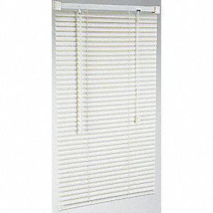 "60"" x 47"" PVC Mini Blinds with Light Filtering Light Blockage, White"