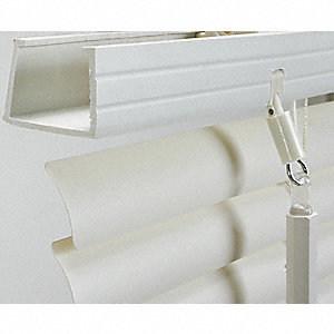 "60"" x 59"" PVC Mini Blinds with Light Filtering Light Blockage, White"