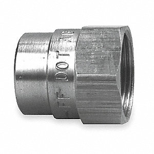 Nut Fitting,7/8 In OD,Brass,PK10