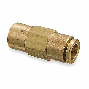 Female Connector,3/8-18,3/8 In Tube Sz
