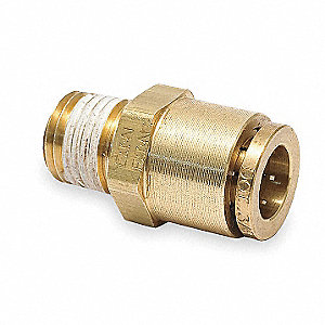 Male Connector,3/8-18,3/8 In Tube Sz