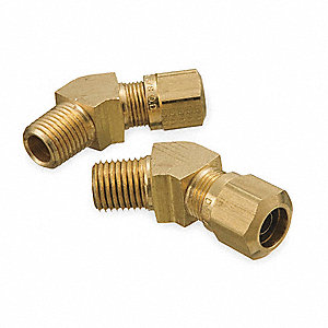 Male Connector,45 Deg,3/8-18 In Tube Sz