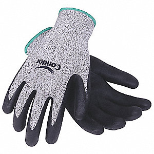 Cut Resistant Gloves, Cut Level 2, Nitrile Coating, HPPE Lining