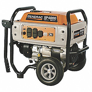 Portable Generator, 120/240VAC Voltage, 4000 Rated Watts, 5000 Surge Watts, 51.6/25.8 Amps @ 120/240