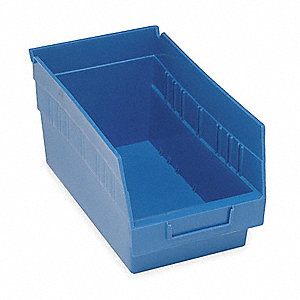 "Shelf Bin, Blue, 6""H x 11-5/8""L x 6-5/8""W, 1EA"
