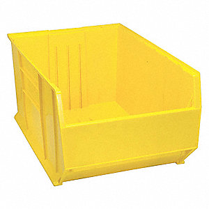 "Hopper Bin, Yellow, 17-1/2""H x 35-7/8""L x 23-7/8""W, 1EA"