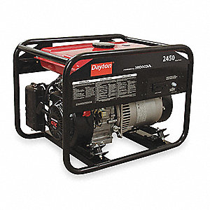 Recoil Gasoline Portable Generator, 2450 Rated Watts, 120VAC