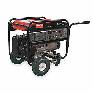 Portable Generator, 120/240VAC Voltage, 3500 Rated Watts, 6380 Surge Watts, 29.2/14.6 Amps @ 120/240