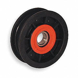 V-Belt Idler Pulley,5/8 In Flat Belt